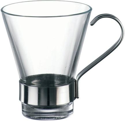 Набор чашек с металлической ручкой Ypsilon (110 мл), 6 шт