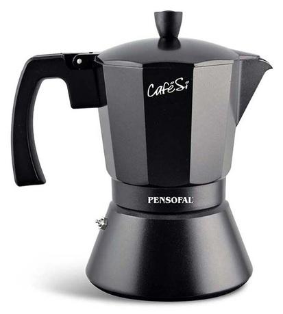 Гейзерная кофеварка CafeSi Noir (470 мл), на 9 чашек