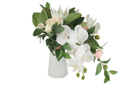 Декоративные цветы Букет орхидея и гортензии в вазе, 38х25х38 см DG-B1701 Dream Garden декоративные цветы купальницы белые в стекл вазе