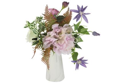 Декоративные цветы Букет клематисы и гортензии в вазе, 35х25х35 см DG-B1703 Dream Garden декоративные цветы купальницы белые в стекл вазе