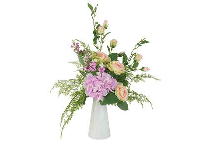 Декоративные цветы Букет розы и гортензии в вазе, 38х25х38 см DG-B1708 Dream Garden