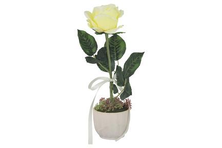 Декоративные цветы Роза жёлтая в вазе, 10х10х35 см DG-PF7108-Y Dream Garden декоративные цветы купальницы белые в стекл вазе