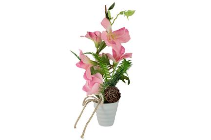 Декоративные цветы Вьюнок розовый в вазе, 12х18х34 см DG-W16015P Dream Garden