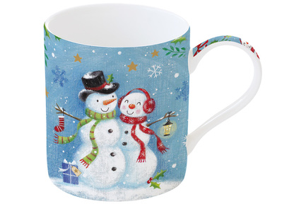 цена на Кружка Новогодняя сказка Снеговики (350 мл), в подарочной упаковке EL-R1770_WL06 Easy Life (R2S)