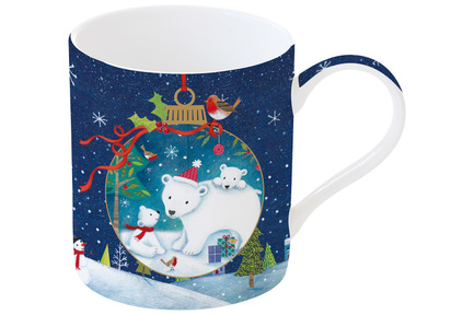 Кружка Новогодняя сказка Медведи (350 мл), в подарочной упаковке EL-R1770_WL08 Easy Life (R2S) кружка ambiente 350 мл серая el r1213 ambg easy life r2s
