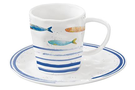 Чашка Морской берег (250 мл), с блюдцем, в подарочной упаковке EL-R1985_BORD Easy Life (R2S) cn 36 чашка с блюдцем ирисы в гог 250 мл carmani