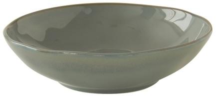 Тарелка суповая Interiors, 19 см, серая