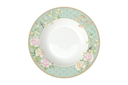 Тарелка суповая Дворцовый парк, 22.5 см, салатовая EL-R1360_PALA Easy Life (R2S) тарелка суповая капри 21 5 см el r0943 capb easy life r2s