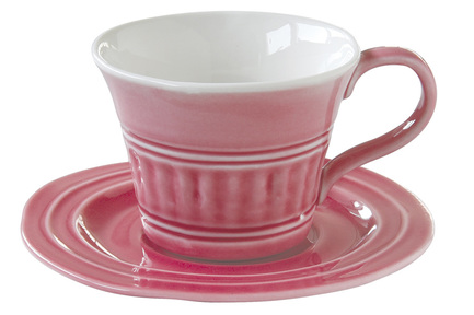 Чашка Abitare (400 мл), с блюдцем, темно-розовая EL-R1872_ABDP Easy Life (R2S) кружка abitare 350 мл розовая el r1865 ablp easy life r2s