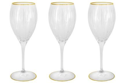 Набор хрустальных бокалов для вина Пиза золото (275 мл), 6 шт SM2101_1G Same набор для вина русские подарки 4 предмета подарочная упаковка