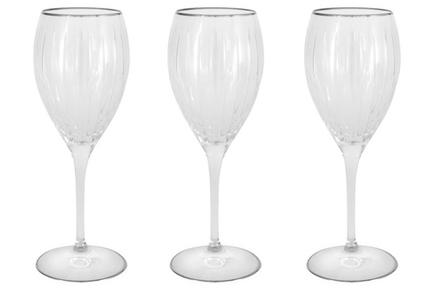 Набор хрустальных бокалов для вина Пиза серебро (275 мл), 6 шт SM2101_1_SAL Same