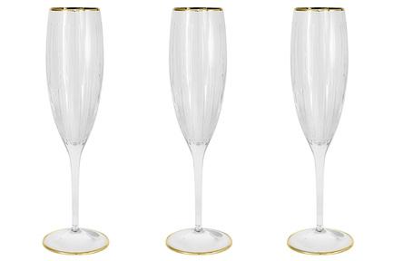 Набор бокалов для шампанского Пиза золото (150 мл), 6 шт SM2103_GAL Same набор бокалов гусь хрустальный krista 150 мл арт 1722 гз impianto