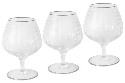 Набор бокалов для коньяка Пиза серебро (370 мл), 6 шт SM2104_SAL Same