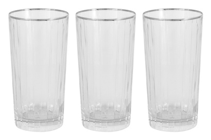 цена на Набор стаканов для воды Пиза серебро (400 мл), 6 шт SM2106_SAL Same