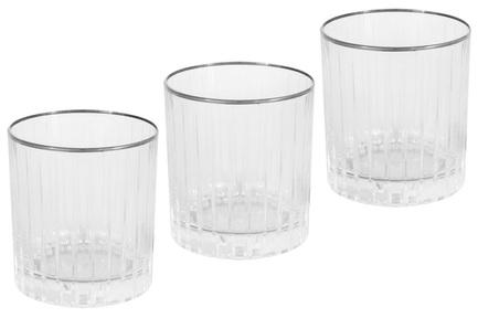 Набор стаканов для виски Пиза серебро (250 мл), 6 шт SM2109_SAL Same