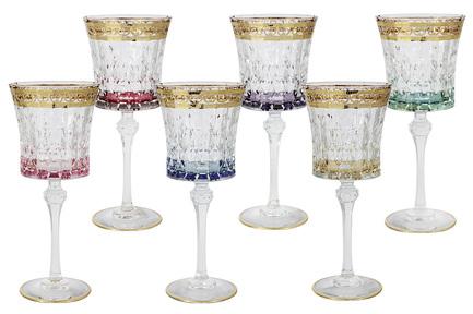 Набор бокалов для вина Цветная Флоренция (270 мл), 6 шт SM3171_678-AL Same
