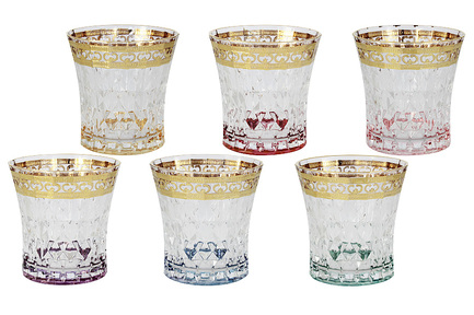 Набор стаканов для виски Цветная Флоренция (270 мл), 6 шт SM3177_678-AL Same