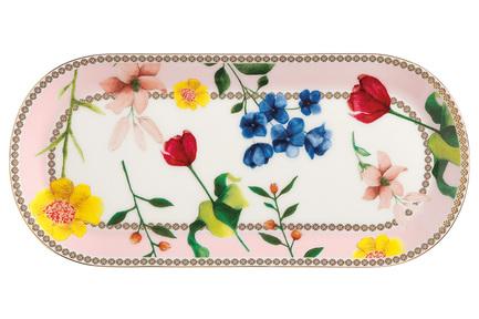 Тарелка сервировочная Contessa, 25х11.5 см, розовая
