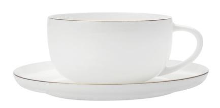 Чашка кофейная Кашемир Голд (100 мл), с блюдцем MW583-EF0117 Maxwell & Williams merxteam молочник сливочник 100 мл костяной фарфор