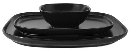Набор столовой посуды Форма, черный, 3 пр