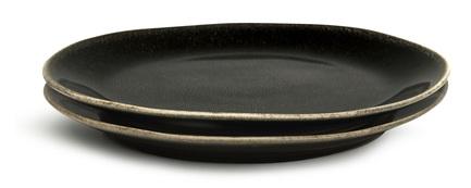 Набор тарелок для закуски Nature, черный, 2 шт 5018064 Sagaform