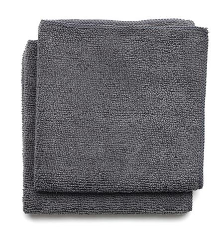Набор чистящих салфеток, 30х30 см, темно-серый, 2 шт