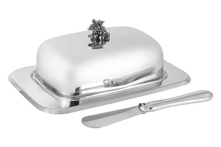 Масленка Винтаж, с крышкой и ножом RE-198155GK Regent масленка harmony 19 12 5 7см подарочная упаковка