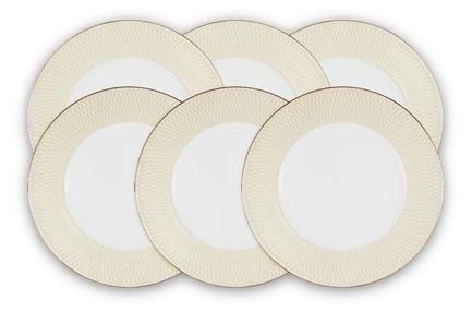 Набор обеденных тарелок Бриз Голд, 27 см, 6 шт N96732-54576 Narumi набор обеденных тарелок elan gallery маки диаметр 23 см 6 шт