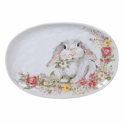 Блюдо овальное Милый кролик, 44х32 см CER23235 Certified International Corp блюдо квадратное 31 см certified international