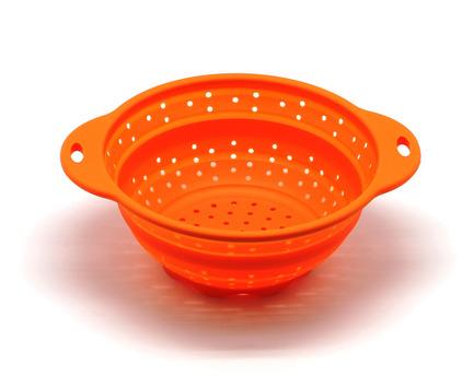 Дуршлаг складной, 19 см, оранжевый