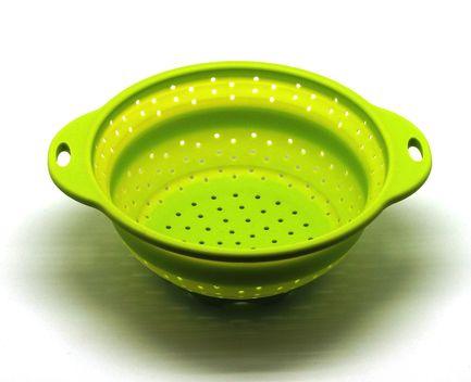 Дуршлаг складной, 21.5 см, зеленый