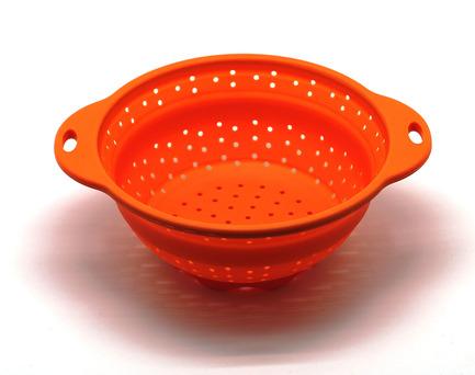 Дуршлаг складной, 21.5 см, оранжевый