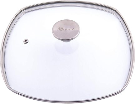 Стеклянная крышка, квадратная, 25х25 см