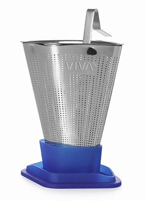 Ситечко для заваривания чая Infusion, 9.3х6.4 см, ярко-синее V29164 Viva Scandinavia ситечко для заваривания чая infusion 6 4х9 3 см красное v29125 viva scandinavia
