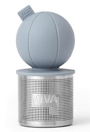 """Ситечко для заваривания чая """"Поплавок"""", 8х3.8 см, серо-голубое"""