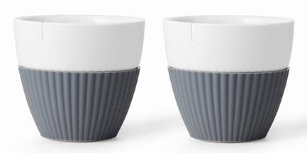 Чайный стакан Anytime (300 мл), 9.4х8.5 см, 2 шт., серый V25433 Viva Scandinavia