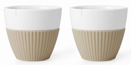 Чайный стакан Anytime (300 мл), 9.4х8.5 см, 2 шт., песочный V25466 Viva Scandinavia