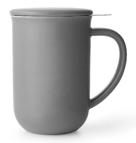 Чайная кружка с ситечком Minima (500 мл). 14.2 см, серая V77548 Viva Scandinavia