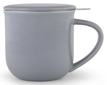 Чайная кружка с ситечком Minima (380 мл), 9.5х9.3 см, серо-голубая V81454 Viva Scandinavia