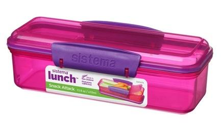 Фото - Контейнер с разделителем Lunch (410 мл), 19х7.8х5.85 см 41479 Sistema хранение продуктов