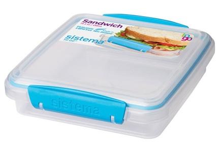 Контейнер для сэндвичей To Go (450 мл), 15.5х15х4.3 см 21647 Sistema контейнер для йогурта to go 150 мл 7 4х13 7 см 2шт 21466 sistema