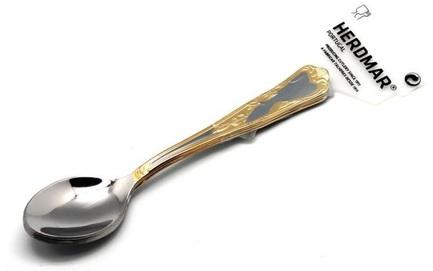 Набор десертных ложек Samba-2, 15 см, 3 шт 02040060400M03 Herdmar набор ложек десертных herdmar samba 2 с золотом 3шт нерж сталь