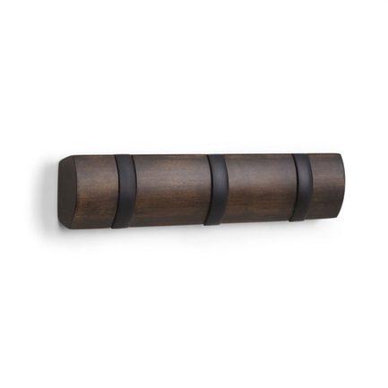 Вешалка настенная Flip, 3 крючка, 30.5 см, черная 318853-048 Umbra