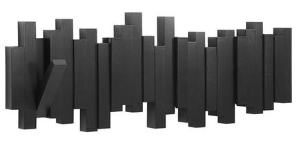 Вешалка настенная Sticks, 49.3 см, черная 318211-040 Umbra цена 2017