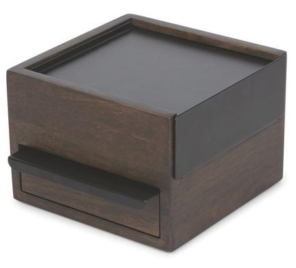 Шкатулка для украшений Stowit Mini, 15.3х15.4х11.2 см, черная 1005314-048 Umbra шкатулка для украшений stowit mini 11 2x15 3x15 4 см никель 1005314 670 umbra