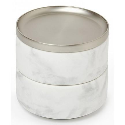 Шкатулка для украшений Tesora, 10.6х12.7 см, белая 299470-491 Umbra шкатулка для украшений stowit mini 11 2x15 3x15 4 см никель 1005314 670 umbra