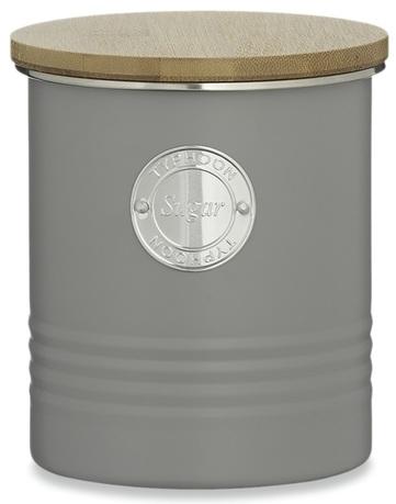 Емкость для хранения сахара Living (1 л), 12х14 см, серая 1400.733V Typhoon