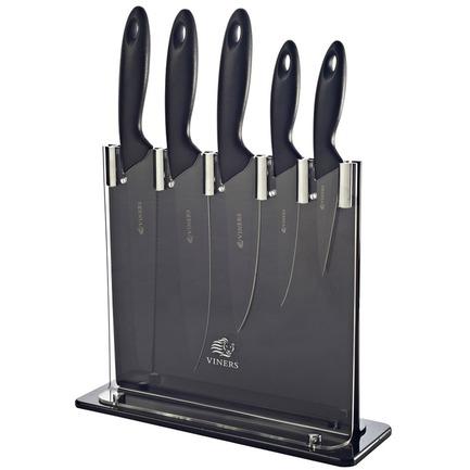 Набор ножей в подставке Silhouette, черный, 6 пр v_0305.097 Viners