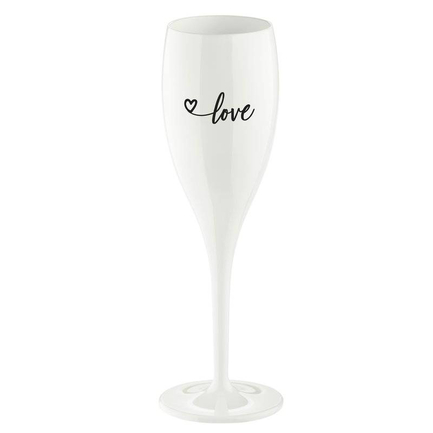 Бокал для шампанского (100 мл), с надписью Love 2.0, белый 3439525 Koziol