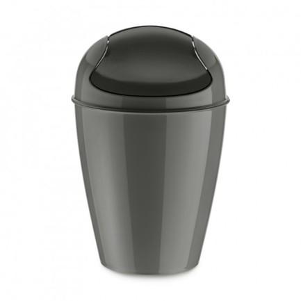 Корзина для мусора с крышкой Del S (5 л), темно-серая 5777665 Koziol контейнер для хранения koziol bottichelli 4 5 л темно серый